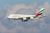 A380 00278 An Airbus A380 Emirates Airline A6-EEU on final approach to land at SFO 12-2014 12-2014 airliner picture by Peter J Mancus