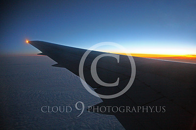 ARTY-A 00002 Boeing 767 wing at sunsrise by Peter J Mancus