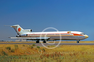 B727 00029 Boeing 727 National N4752 June 1972 by William T Larkins