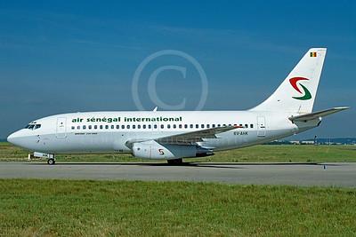 B737 00029 Boeing 737-200 Air Senegal Airline 6V-AHK July 2001 via African Aviation Slide Service