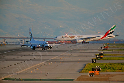 ArtyA 00007 Boeing 737 Alaska and Boeing 777 Emirates by Peter J Mancus