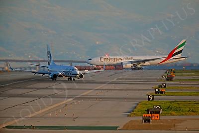 ArtyA 00007 Boeing 737 Alaska and Boeing 777 Emirates by Peter J Mancus