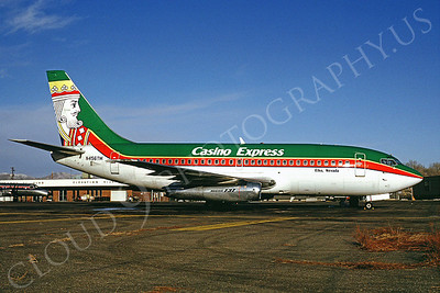 B737 00015 Boeing 737 Casino Express N456TM Elko December 1992 by Peter J Mancus