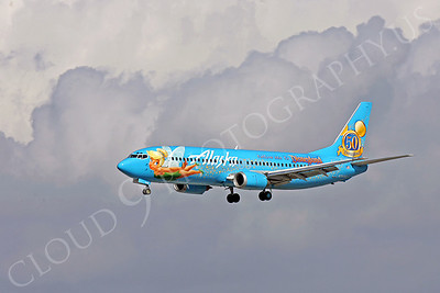 B737 00340 Boeing 737 Alaska Airline Tinkerbelle by Peter J Mancus
