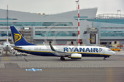 B737 00009 A taxing Boeing 737 Ryan Air EI-EBC Rome, Italy 6-2016 airliner picture by Peter J  Mancus