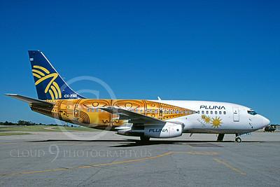 B737 00023 Boeing 737 Pluna Airline CX-FAT December 1996 by Michel Saint-Felix