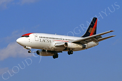 B737 00020 Boeing 737 LACSA Airline March 1999 by Peter J Mancus
