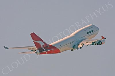 B747 00018 Boeing 747-400 Qantas Airline VH-OEE by Peter J Mancus