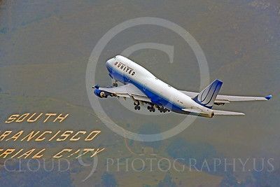 B747 00164 Boeing 747 United N174UA by Peter J Mancus
