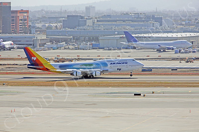 B747 00025 Boeing 747-400 Air Pacific Airline DQ-FJL by Peter J Mancus