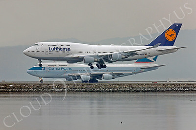 B747 00108 Boeing 747 Lufthansa D-ABVW by Peter J Mancus