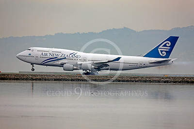 B747 00197 Boeing 747 Air New Zealand ZK-NBW by Peter J Mancus