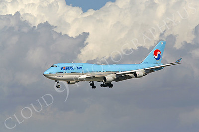 B747 00004 Boeing 747-400 Korean Airline HL7489 by Peter J Mancus