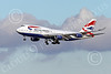 B747 01578 A Boeing 747 British Airways on final approach to land at SFO 12-2014 airliner picture by Peter J Mancus