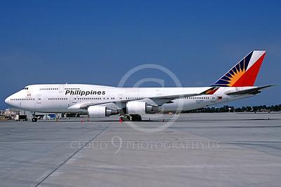 B747 00027 Boeing 747-400 Philippines Airline N751PR November 1998 via African Aviation Slide Service