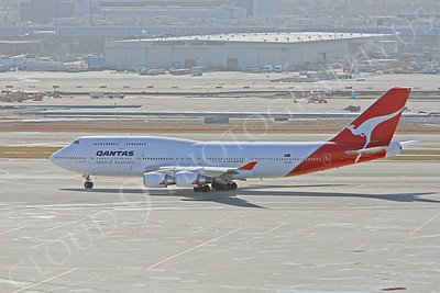 B747 00023 Boeing 747-400 Qantas Airline VH-OEE by Peter J Mancus