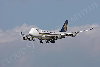 B747-C 00024 Boeing 747 Signapore Airlines Cargo by Peter J Mancus