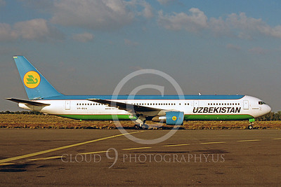 B767 00009 Boeing 767 Uzbekistan VP-BUA February 1998 by Peter J Mancus
