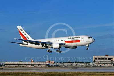 B767 00020 Boeing 767 Air Europa July 1997 by Peter J Mancus