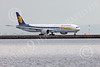 B777P 00581 A Boeing 777 Jet Airways A6-JAE taxis for take-off at SFO 12-2014 airliner picture by Peter J Mancus