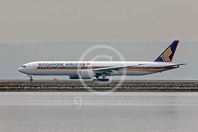 B777 00017 Boeing 777 Signapore Airlines 9V-SWJ by Peter J Mancus