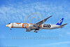 B777P 00014 A Boeing 777 jet airliner, ANA All Nippon Airways JA 789A, STAR WARS rare color scheme markings, landing at LAX 11-2017, jet airliner picture by Carl E  Porter     DONEwt