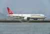 B777 00067 A Boeing 777 Turkish Airline TC-JJR taxis for take-off at San Francisco's SFO 3-2016 jet airliner picture by Peter J  Mancus