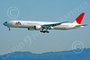 Japan Airline Boeing 777 Airliner Pictures : High resolution Japan Airline Boeing 777 airliner pictures for sale.