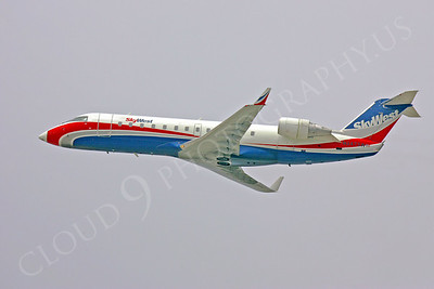 CRJ100 00002 Bombardier Canadair CRJ100 Sky West Airline N947SW by Peter J Mancus