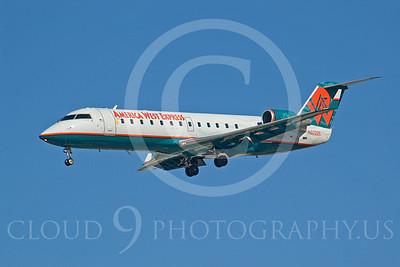 CRJ100 00004 Bombardier CRJ100 America West Express N37228 by Dave Budd