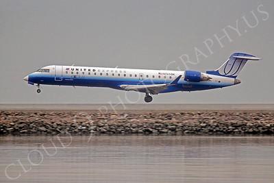 CRJ100 00052 Bombardier Canadair United Express N745SK by Peter J Mancus