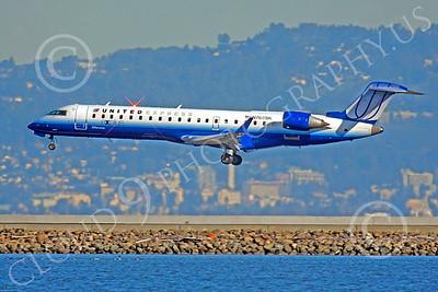 CRJ700 00100 Bombardier Canadair CRJ700 United Express N760SK by Peter J Mancus