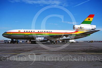 DC-10 00003 Douglas DC-10 Ghana Airways 9G-ANA November 1996 via African Aviaiton Slide Service