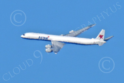 DC-8-C 00014 A distant, in-flight, ASTAR Air Cargo Douglas DC-8 jet, N873SJ, by Peter J Mancus