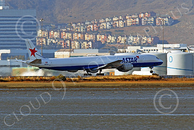 DC-8-C 00006 An ASTAR Air Cargo Douglas DC-8 jet, N873SJ, seen during its take-off roll at SFO, by Peter J Mancus
