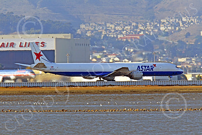 DC-8-C 00022 An ASTAR Air Cargo Douglas DC-8 jet, N873SJ, seen during its take-off roll at SFO, by Peter J Mancus