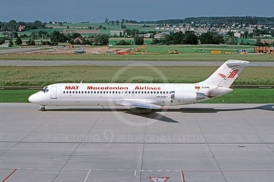 DC-9 00001 Douglas DC-9 Macedonian Z3-ARE April 1999 via African Aviation Slide Service