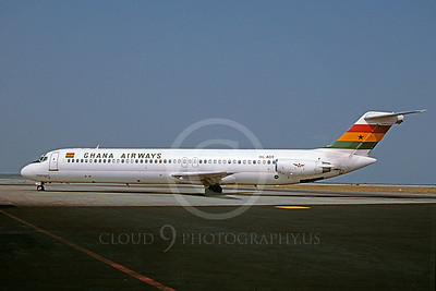 DC-9 00003 Douglas DC-9 Ghana Airways 9G-ADT March 1999 via African Aviation Slide Service