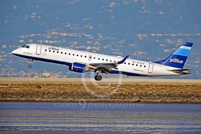 EMBRAER 190 00038 EMBRAER 190 Jet Blue N216JB by Peter J Mancus