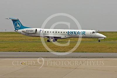 Embraer ERJ145 00001 Embraer ERJ145 LuxAir Eurojet LX-LGJ by Peter J Mancus