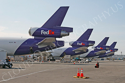FEDEX 00035 McDonnell Douglas DC-10 line up by Tim P Wagenknecht