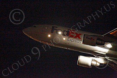 FedEx 00020 Airbus A310 FedEx takes off at night at LAX, by Peter J Mancus