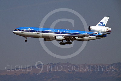 MD-11 00002 McDonnell Douglas MD-11 KLM Airline PH-KCF SFO October 2003 by Peter J Mancus