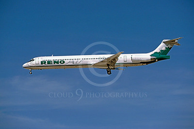 MD-88 00050 McDonnell Douglas MD-88 Reno Air October 1996 by Peter J Mancus
