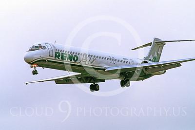 MD-88 00004 McDonnell Douglas MD-88 Reno Air N88IRA July 1997 by Peter J Mancus