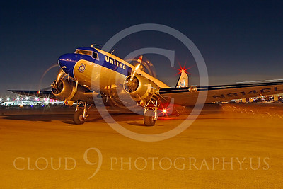 DC-3 00003 Douglas DC-3 United Airline by Tim Wagenknecht