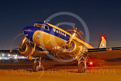 DC-3 00001 Douglas DC-3 United Airline by Tim Wagenknecht