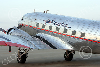 ALPPN 00003 A tight crop portrait of a beautiful Douglas DC-3 in American Airline Flagship markings, airplane picture, by Jay Shelby Davis
