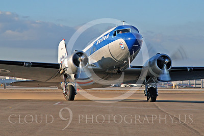 DC-3 00021 Douglas DC-3 United Airline by Tim Wagenknecht