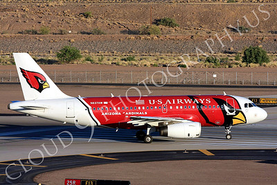 A319 00069 US Airways Airbus A319 N837AW Arizona Cardinals Sky Harbor July 2011 airliner picture, by Carl Porter
